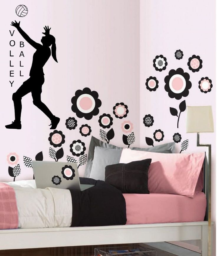 volleyball vinyl wall decal sticker decor sports girls room quote art players ksksignsanddesigns contemporary. beautiful ideas. Home Design Ideas