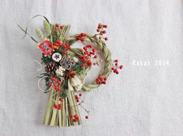 かわいらしいサンキライの実を沢山使い お正月らしい紅白の色合いのリースになりました元気にお正月をお迎え下さい^^ サンキライの花言葉は「不屈の精神」らしいです...|ハンドメイド、手作り、手仕事品の通販・販売・購入ならCreema。