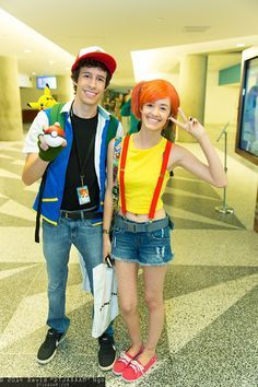 ash and misty costume - Google Search