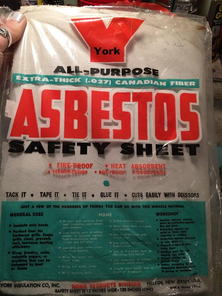 """Asbestos """"safety sheet"""""""