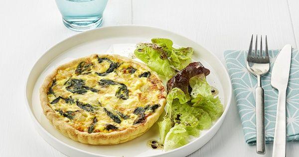 Quiche met verse spinazie en raclettekaas