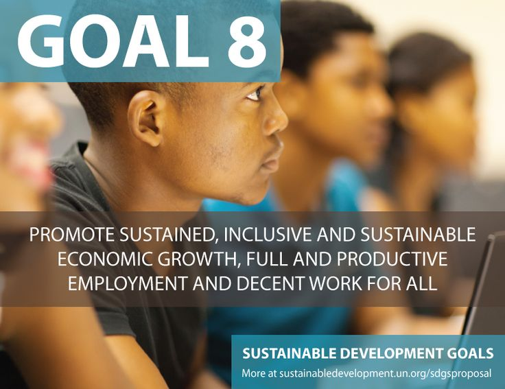 Proposal for Sustainable Development Goals ...Promote Sustained, Inclusive, and Sustainable Economic Growth, Full and Productive Employment and Decent Work for All - Sustainable Development Knowledge Platform