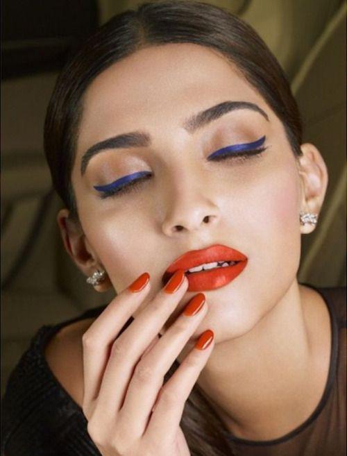 Blue eyes, red lips - Sonam Kapoor
