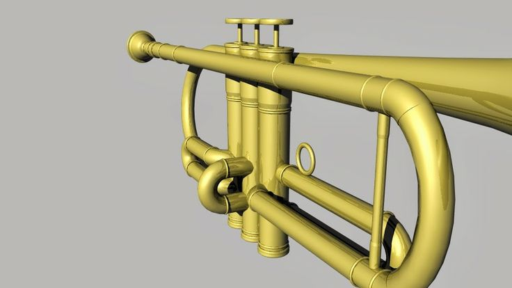 Bàrbara Ruisánchez Andreu: Trompeta 3D, art digital, Illustration, animación3D