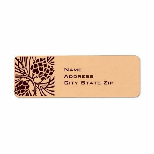 Pinecone Address Return Address Labels