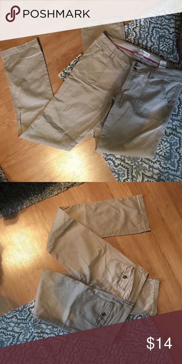 Khakis Bootcut khakis with button back pockets Hollister Pants Trousers