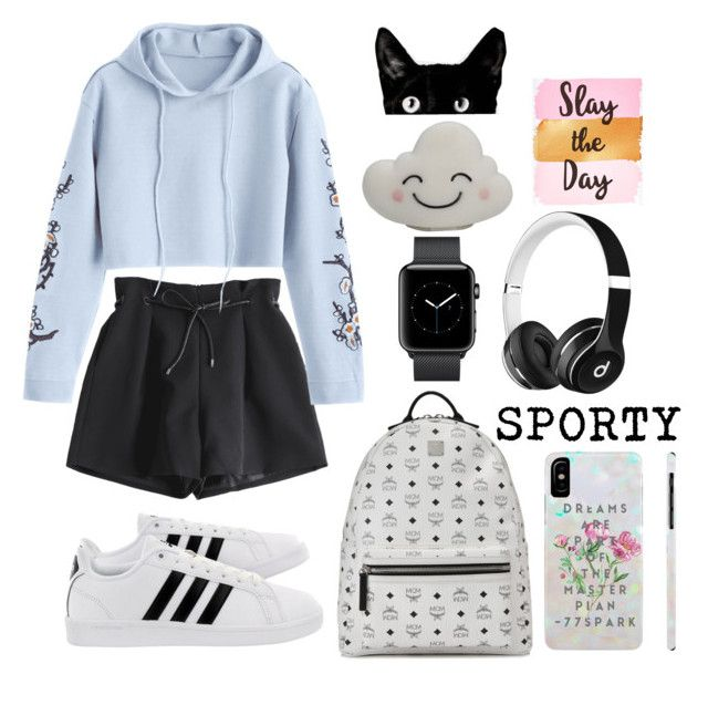 """Hoodie"" by fun-me ❤ liked on Polyvore featuring adidas, MCM and Beats by Dr. Dre"