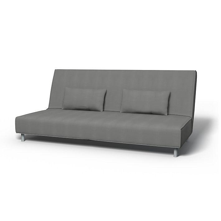 Beddinge, Sofabezüge, Bettsofa, Regular Fit diesen Stoff anwenden Panama Cotton Zinc Grey