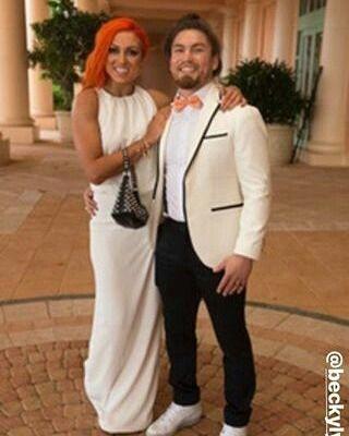 "WWE Superstar Becky Lynch (Rebecca Quin) and her boyfriend UFC fighter Luke ""Cool Hand"" Sanders #WWE #TotalDivas #wwecouples"