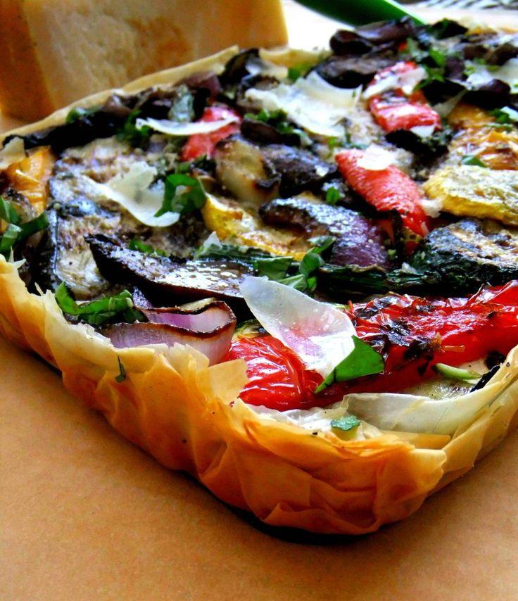 Tarte aux légumes grillés avec pâte phyllo