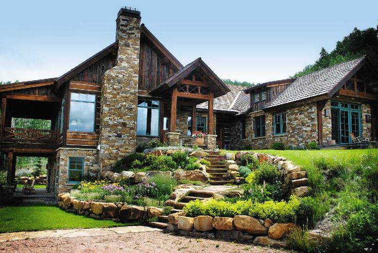Shingle Style With Stone Wall Stone House Plans Crested