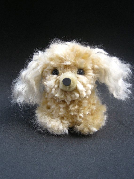Gold/Tan Cocker Spaniel Pom pom Dog by pompomalooza on Etsy