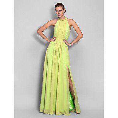 vestido de la envoltura / columna de cuello alto piso de longitud gasa noche / fiesta de graduación (551340) – EUR € 73.00