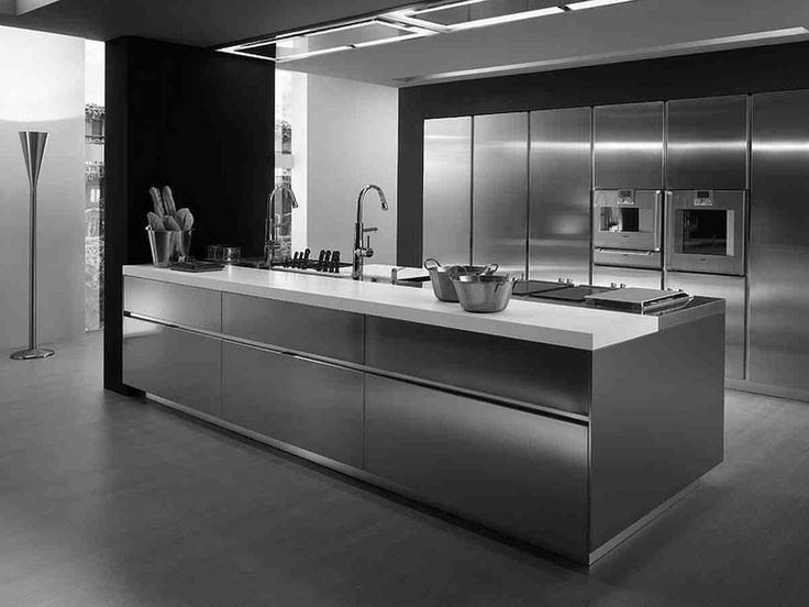 Stainless Steel Kitchen Design Contemporary Cabinets Ikea Kitchendecorate Net