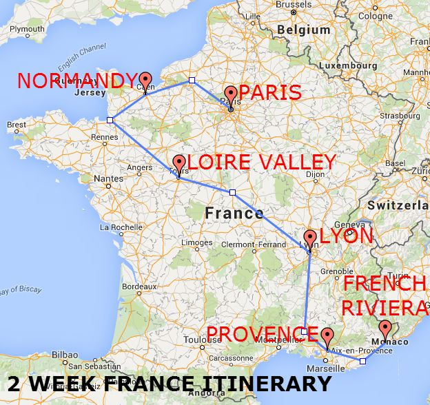 The Itinerary - The Best of France: A Two Week Itinerary - The Trusted Traveller