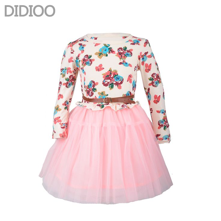 Купить Девушки осеннее платье мода милый цветочные принты с длинным рукавом сетки платье принцессы детская одежда предназначен для 4   14 девушкии другие товары категории Платьяв магазине DIDIOO Fashion Kids Ltd.наAliExpress. платья блейзеры и платья без спинки