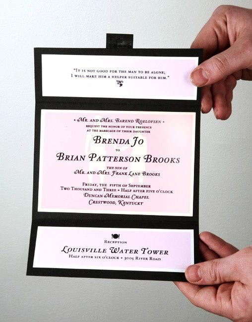 Best 25 DIY wallet style wedding invitations ideas on Pinterest