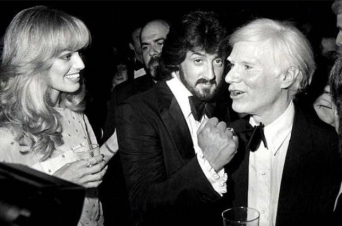 Sylvester Stallone, Susan Anton, and Andy Warhol, 1979