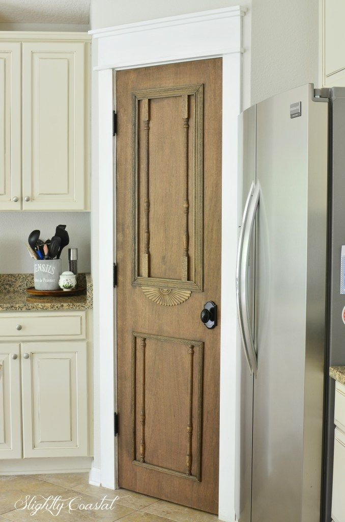 "DIY ""Antique"" Pantry Door – Slightly Coastal"