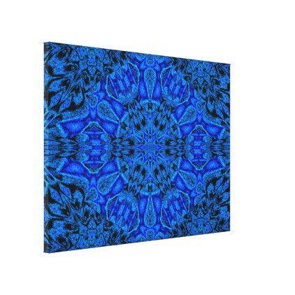 Blue Peony Canvas Print - blue gifts style giftidea diy cyo