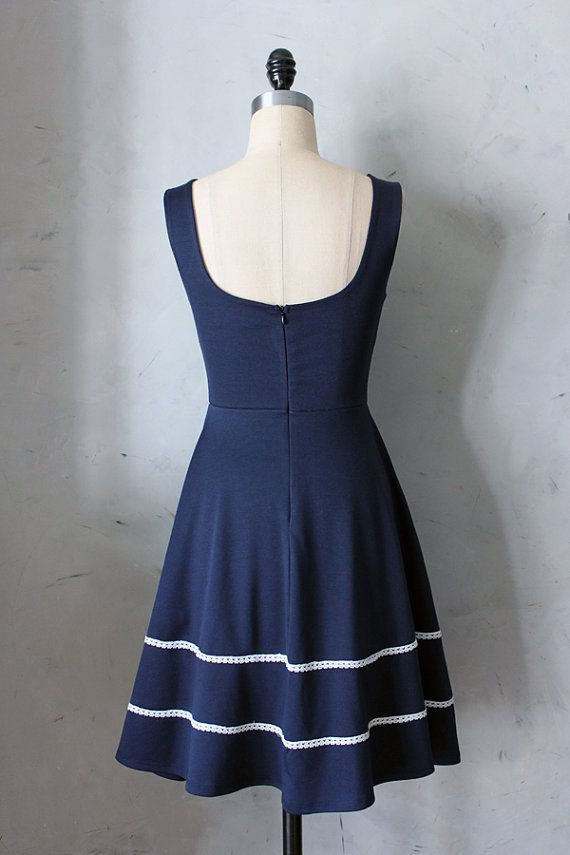 COQUETTE in NAVY Navy blue dress with pockets by FleetCollection, $68.00