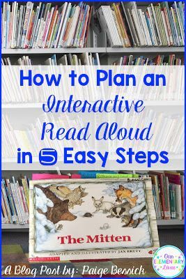 A fabulous Blog Post-Interactive Read Aloud lessons are a great way to teach your students reading strategies. Perfect for kindergarten, first and second grades, Interactive Read Alouds keep students engaged and learning. You'll be amazed at the amount of CCSS met by doing them. Take a look to see the 5 easy steps for planning your own.