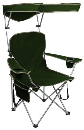 10 Quick Shade Adjustable Canopy Folding Camp Chair