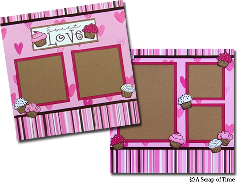 Sweet Love Premade Scrapbook Pages by A Scrap of Time