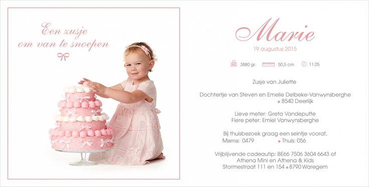 Een zusje om van te snoepen! #snoeptaart #geboortekaartje #foto #grote #zus #kinderfotograafpatrick