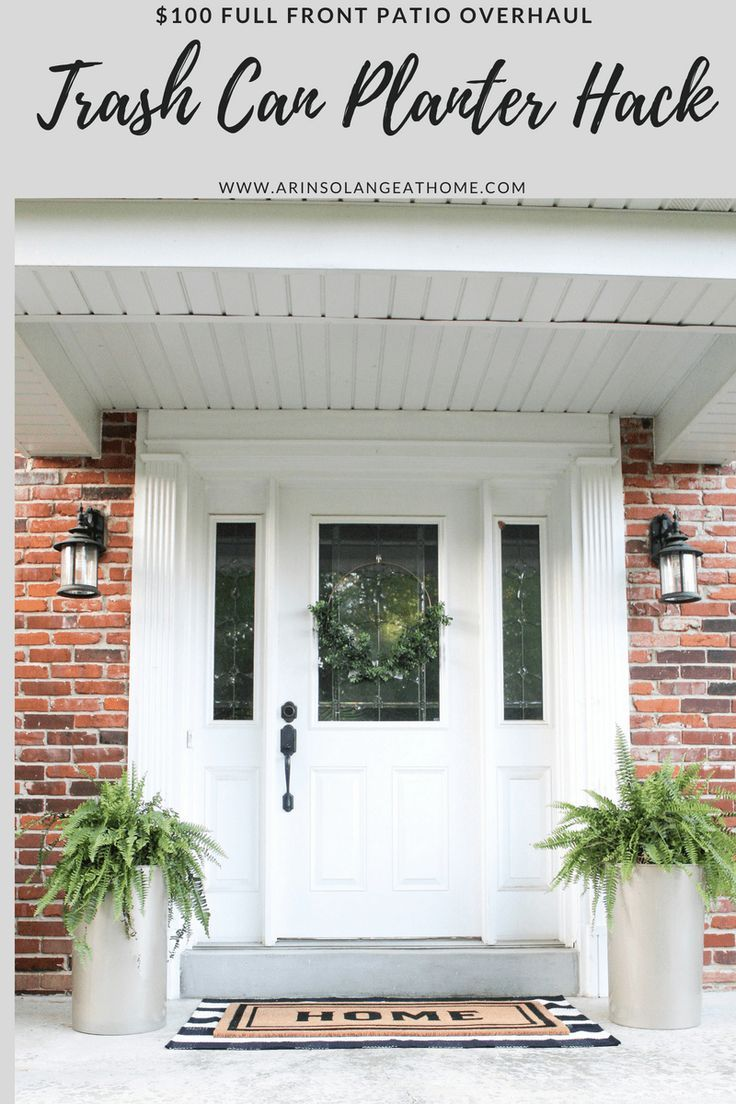 Trash Can Planter Hack Curb Appeal Pinterest Porch Planters