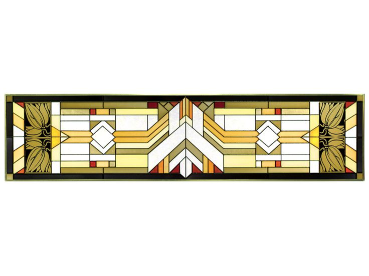The Mission Style - Craftsman Color Horizontal Stained Glass Panel is on sale now and shipping is FREE! Top quality stained glass panels at guaranteed low prices.