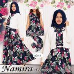 Gamis Remaja B064 Namira Flowers - Baju Muslim Modern