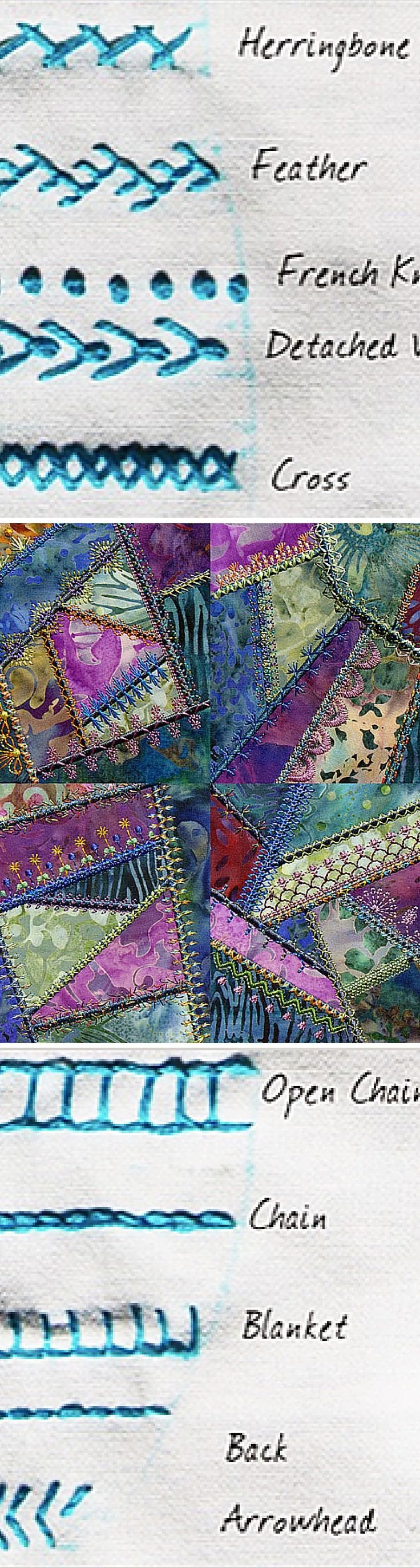 Learn Decorative Embroidery Stitches for Crazy Quilts