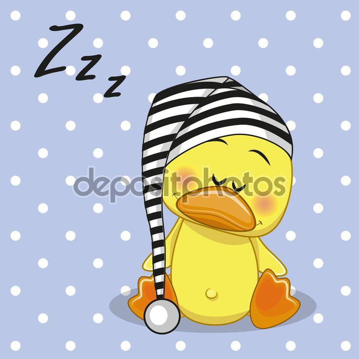 Uyuyan ördek — Stok İllüstrasyon
