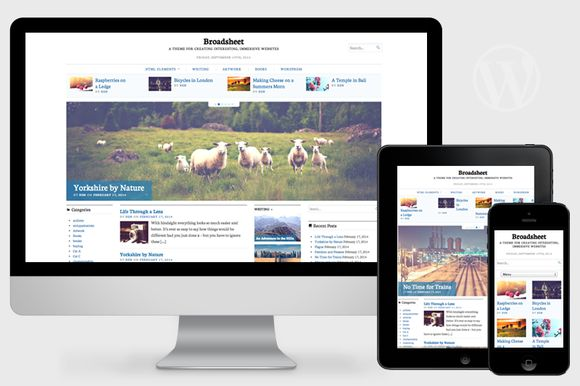 Broadsheet has a variety of options to allow you to tweak and adjust the theme so that it works exactly as you want. so free download it.