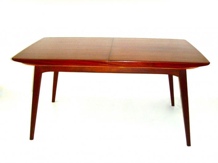 Salle de ventes abc van teeffelen louis xx table de s jour en bois de teck allonge - Cm breedte van de basis tabel ...