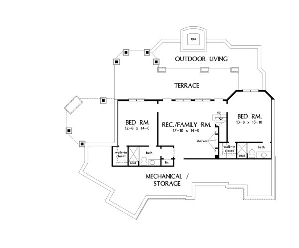 European Style House Plan 4 Beds 4 Baths 2880 Sq Ft Plan