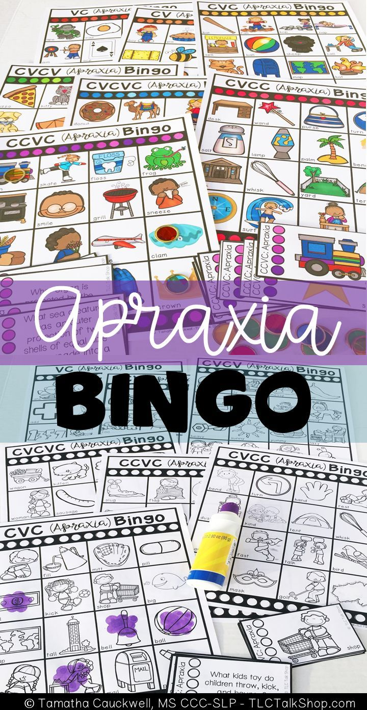 Target VC, CV, CVC, CVCV, CVCVC, CCVC, and CVCC syllable structures with full color and low ink bingo boards.  Two tiers or calling cards included: basic labeling cards and vocabulary building calling cards.  Low ink is great to send home for family fun!  #apraxia #syllablestructures #speechtherapy