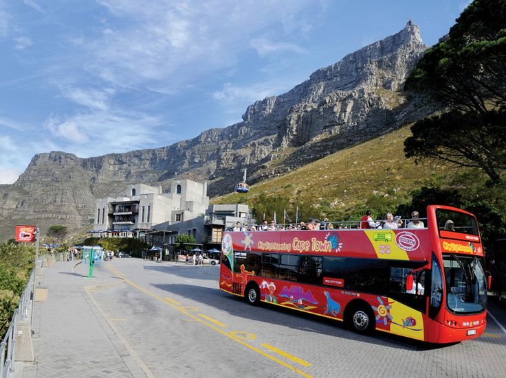 The hop-on/hop-off double-decker Cape Town City Sightseeing Bus departs every 15 minutes from the Two Oceans Aquarium and stops at 20 iconic attractions, including Table Mountain Cableway and Camps Bay beach. The ticket, valid for two days, lets you sight see at a leisurely pace.