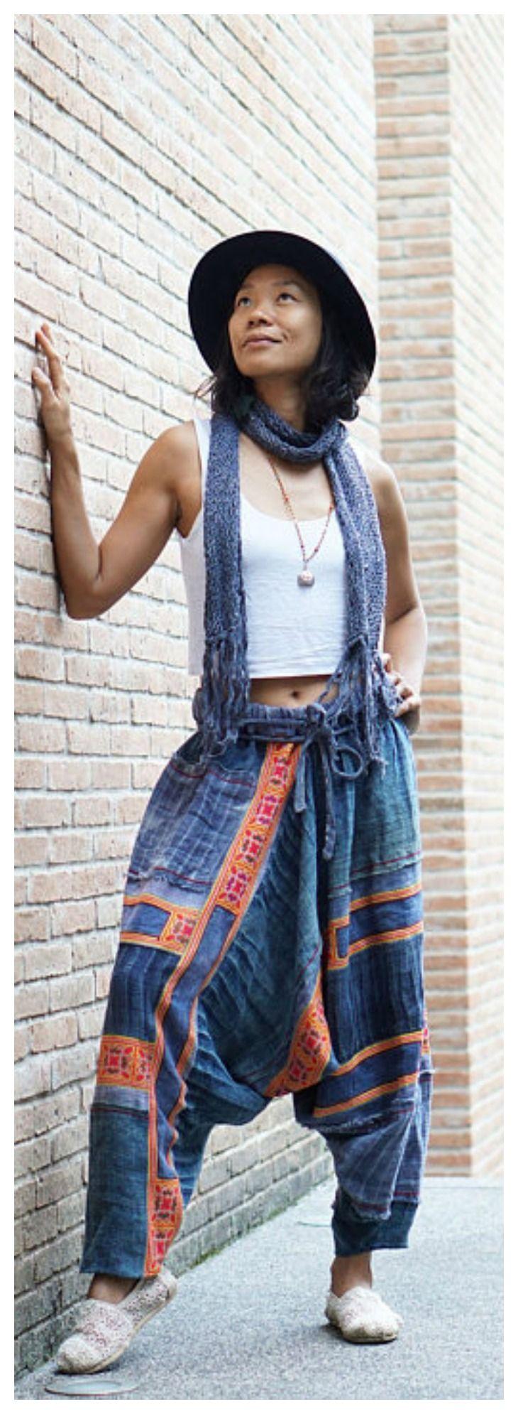 baggy pants, boho festival pants, patchwork pants, Hmong pants, harem pants, hemp pants, harem pants women, hemp pants, Hmong clothes