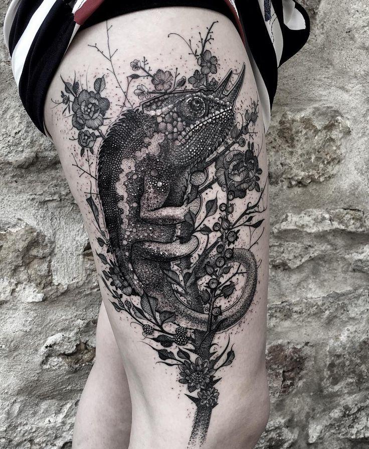 Chameleon Tattoo Designs: 17+ Best Ideas About Chameleon Tattoo On Pinterest