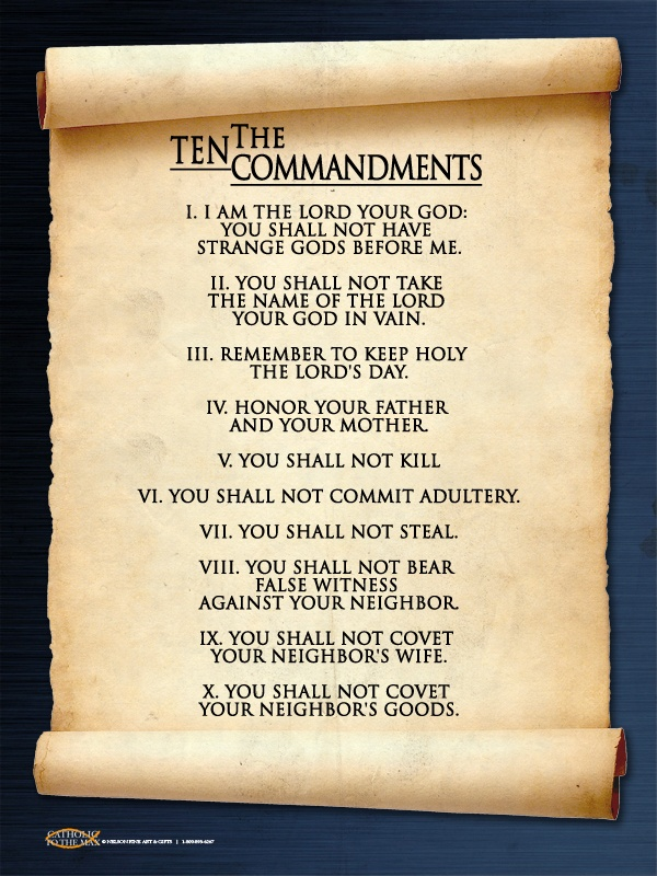 the spiritual emphasis and teachings of the ten commandments