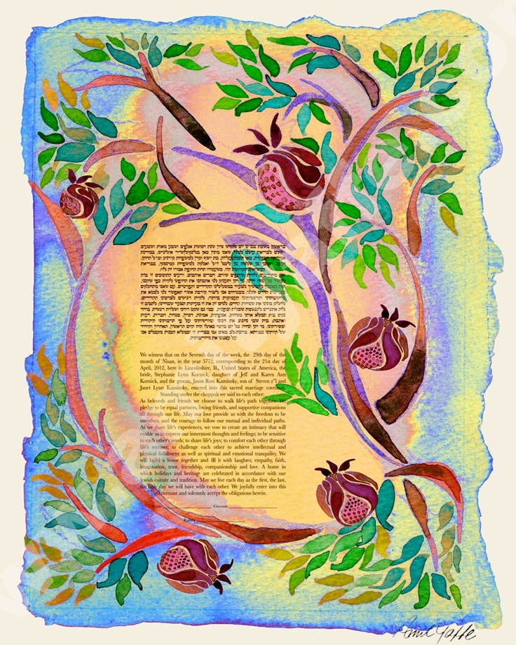 CUSTOMIZED PERSONALIZED KETUBAH Jewish Wedding Contract
