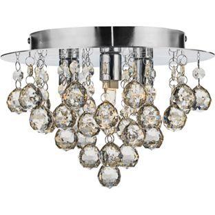 Living Joy Flush Champagne Ceiling Light From Homebasecouk