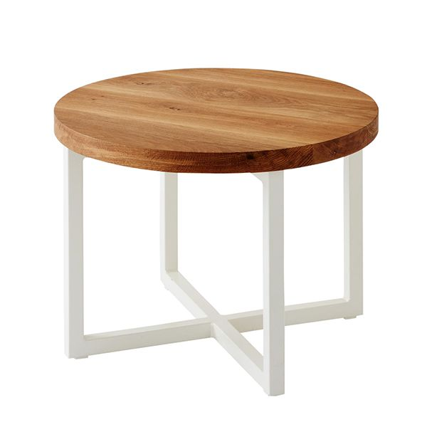 Mark Tuckey cross base steel side table