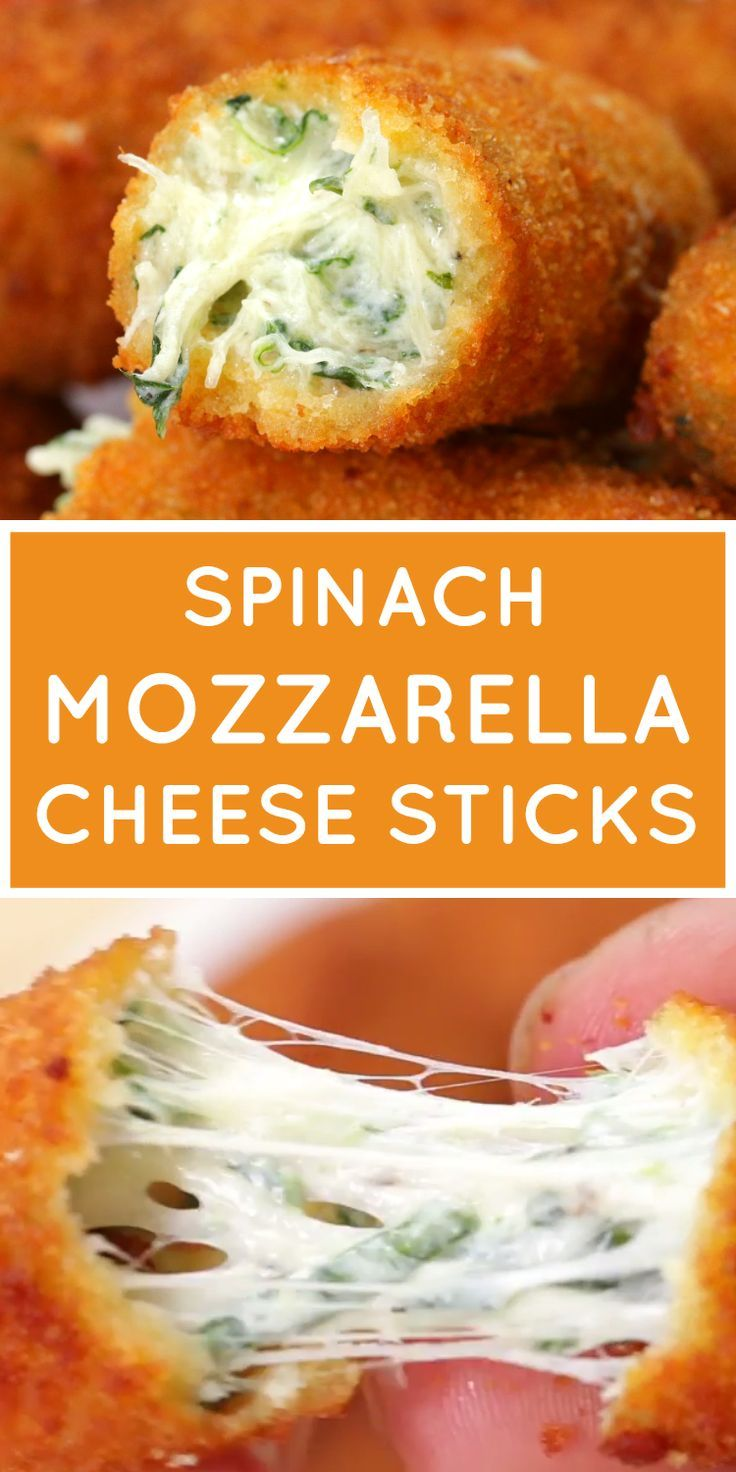 spinach mozzarella cheese sticks