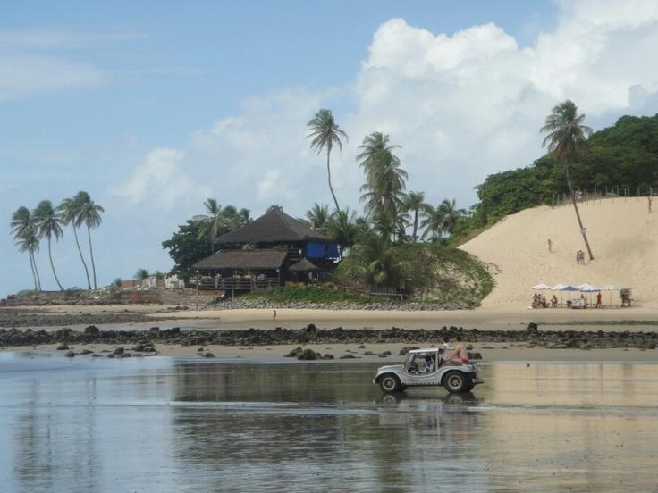 Playa de dunas en Natal, Brasil.