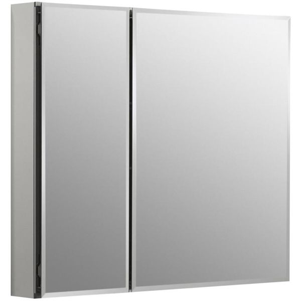 Kohler Co. 30 in. W x 26 in. H aluminum two-door medicine cabinet with mirrored doors, beveled edges | Lowe's Canada