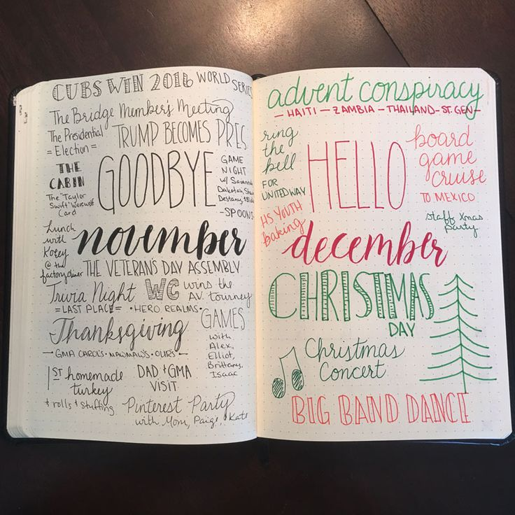 Practice gratitude monthly with the goodbye and hello spread in your bujo
