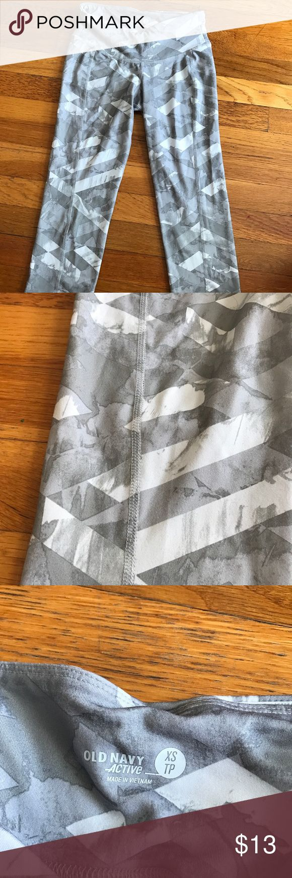 Lightly worn Mossimo patterned athletic leggings Only worn a few times. Cropped Leggings. Not see through, no rips, holes or stains. Mossimo Supply Co Pants Leggings